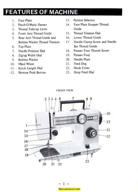 DeLuxe 580 Zigzag Sewing Machine Instruction Manual