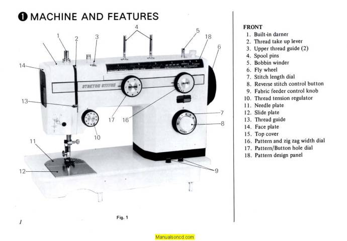 DeLuxe 727 Sewing Machine Instruction Manual
