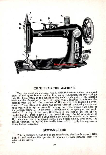 Eldredge Model V Sewing Machine Instruction Manual