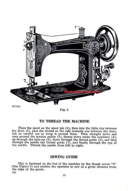 Eldredge I.E.B. Sewing Machine Instruction Manual