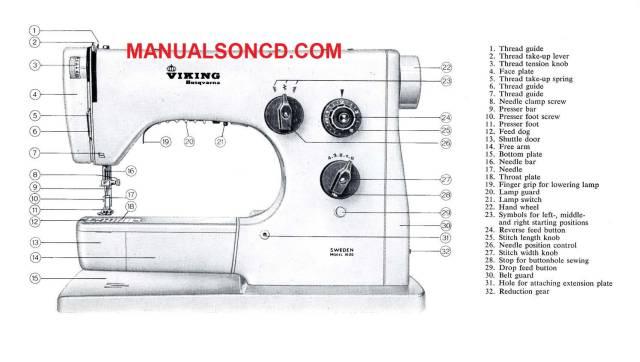 Viking Husqvarna 1000 Sewing Machine Instruction Manual