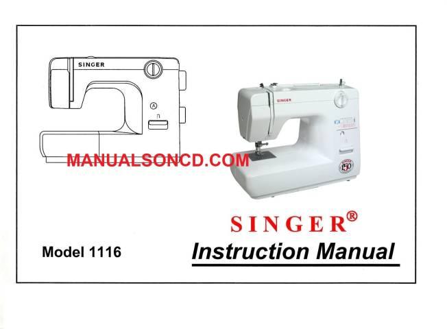 Singer 1116 Sewing Machine Instruction Manual