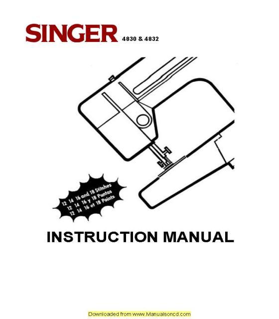 Singer Instruction Manuals