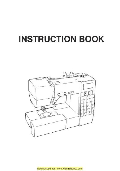 Necchi EX30 Sewing Machine Instruction Manual