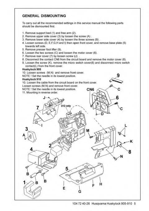 elna sewing machine parts diagram spider food chain husqvarna huskylock 905-910 service manual