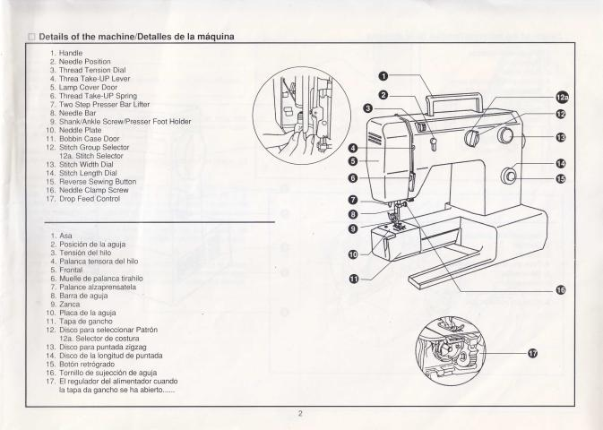 Necchi 4795 Sewing Machine Instruction Manual