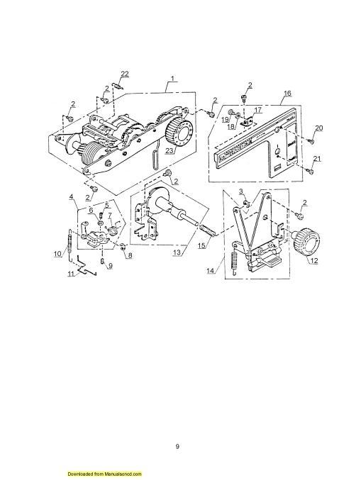 Janome 360 Sewing Machine Service-Parts Manual