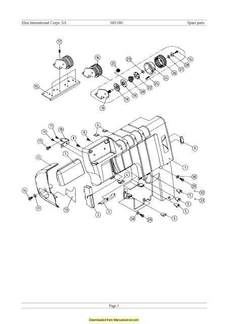 Elna 683-686 Sewing Machine Service Manual Plus Parts