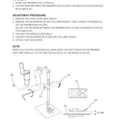 Elna Sewing Machine Parts Diagram Mopar Alternator Wiring Necchi Ev7 Service Manual