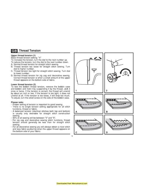 Singer 2259 Sewing Machine Instruction Manual