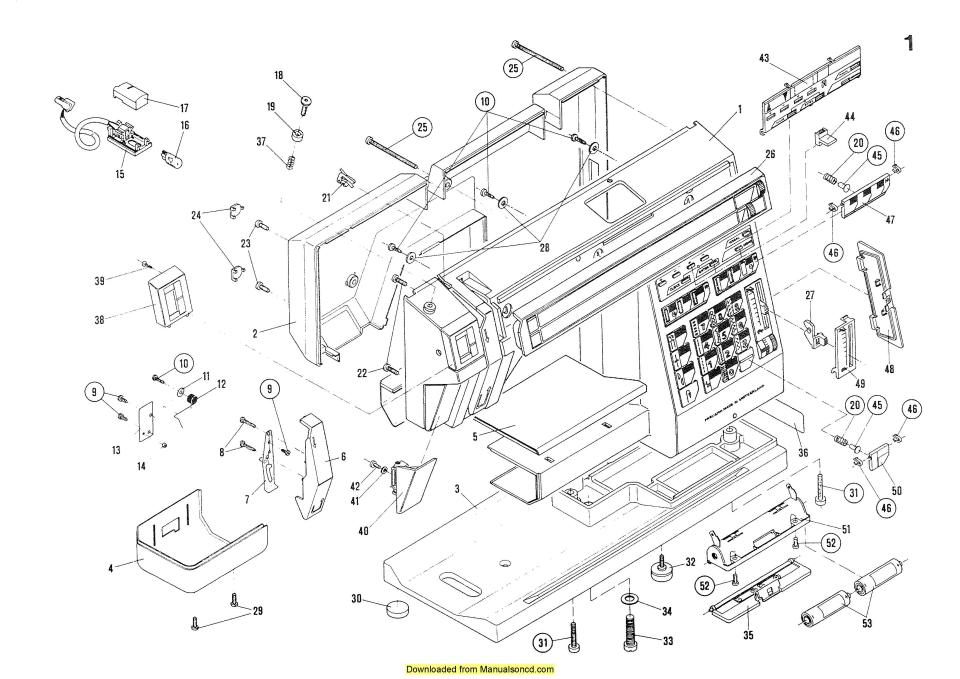 Elna 7000 Sewing Machine Service-Parts Diagrams Manual