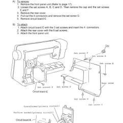 Elna Sewing Machine Parts Diagram Trane El Paso 6003 Service Manual