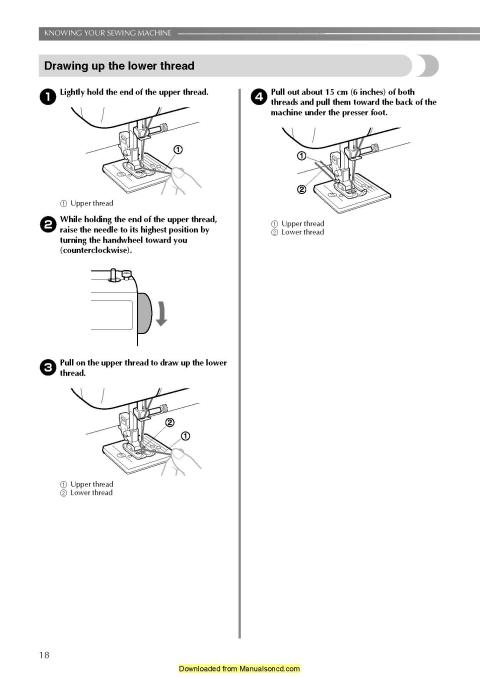 Brother LS-2125I Sewing Machine Instruction Manual