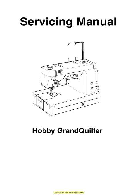 Pfaff 1200 Hobby GrandQuilter Sewing Machine Service Manual