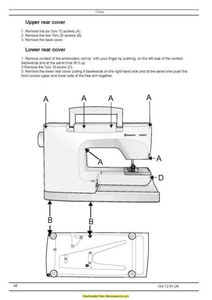 Husqvarna Viking Designer SE Sewing Machine Service