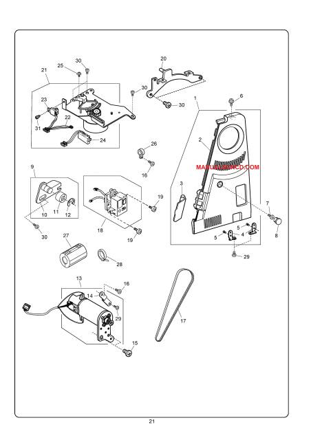 Janome 10001 Memory Craft Sewing Service-Parts Manual