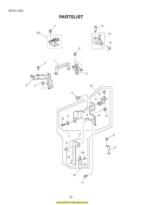 Janome 625E Sewing Machine Service Manual Plus Parts