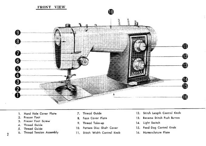 Kenmore 158.540 158.541 158.542 Sewing Machine Instruction