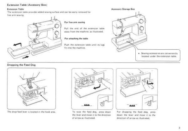 Janome L312 Sewing Machine Instruction Manual