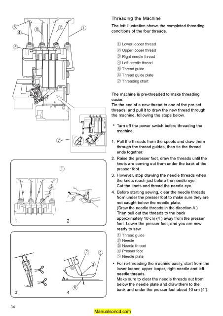 Janome 240D MyLock Sewing Machine Service Manual