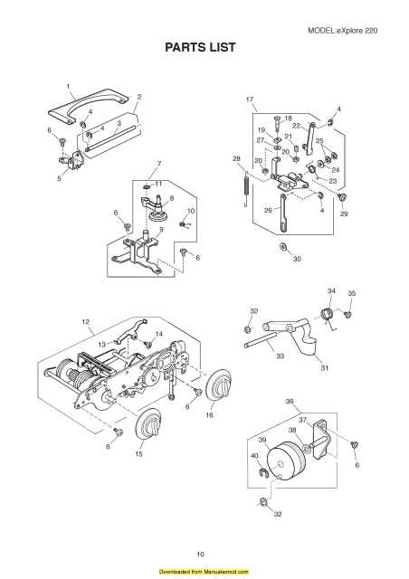 Elna 220 eXplore Sewing Machine Service-Parts Manual