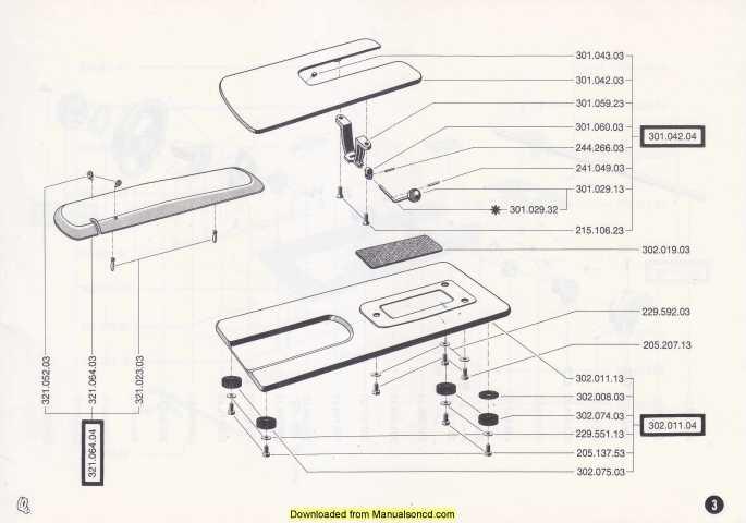 Bernina 500-600-610 Sewing Machine Spare Parts Manual