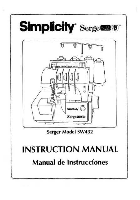 Simplicity SW432 Serge Pro Sewing Machine Instruction Manual