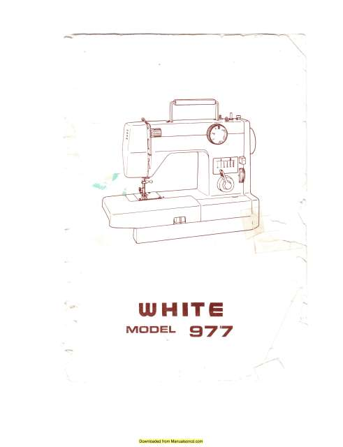 White 977 Sewing Machine Instruction Manual