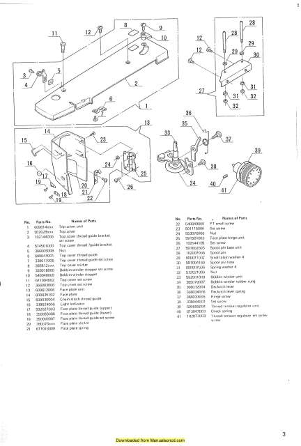Janome 609 Sewing Machine Service-Adjusters Manual