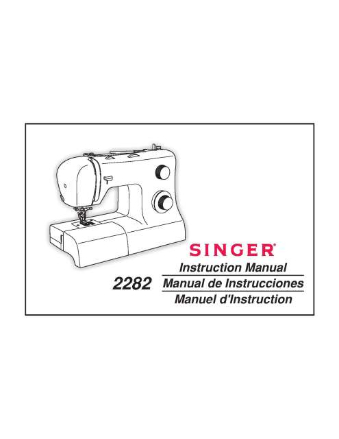 Singer 2282 Sewing Machine Instruction Manual