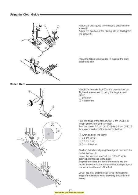 Elna 7100 Sewing Machine Instruction Manual