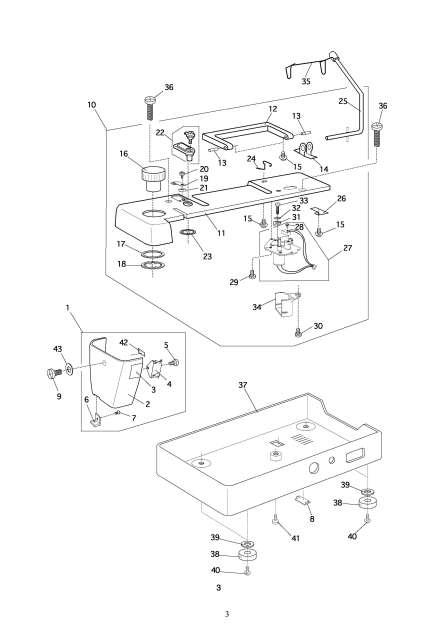 Elna 7200 Pro Quilters Dream Sewing Machine Service Manual