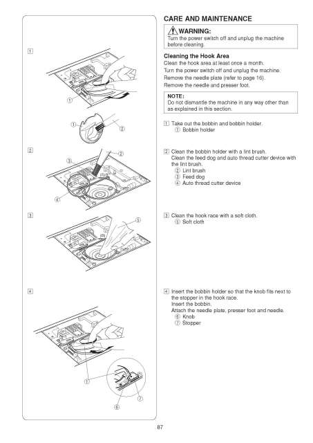 Elna 680 eXcellence Sewing Machine Instruction Manual
