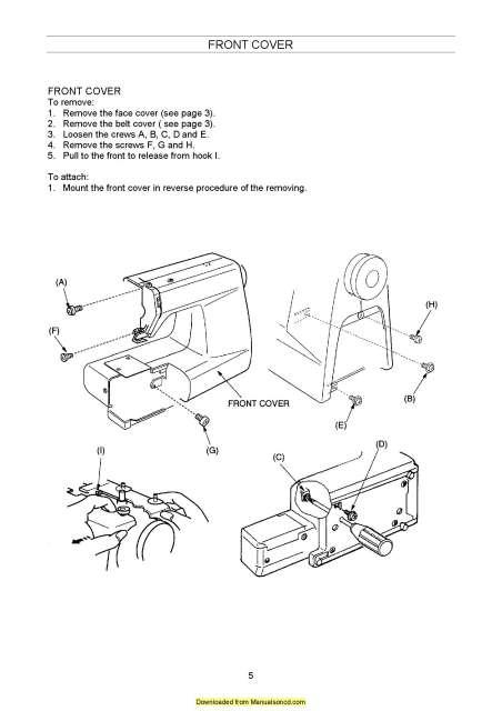 Elna 2100-2300 Sewing Machine Service-Parts Manual