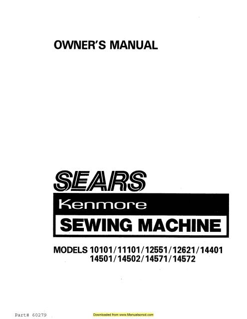 Brother SE270D Sewing Machine Instruction Manual