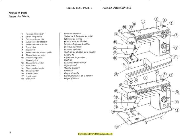 Janome 362-363 Sewing Machine Instruction Manual