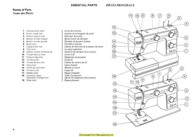 Janome 380-381 Sewing Machine Instruction Manual