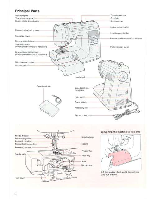 Singer XL-1 Sewing Machine Instruction Manual