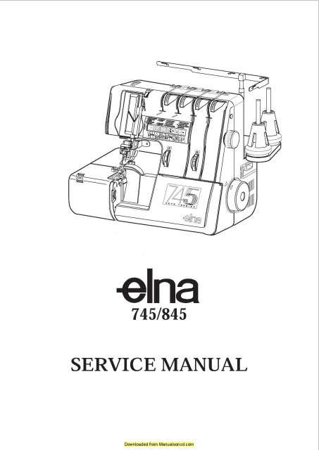Elna 745-845 Sewing Machine Service-Parts Manual