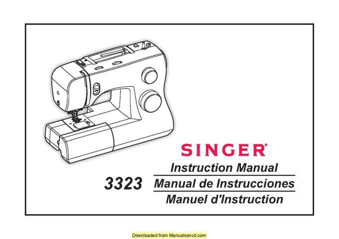 Singer 3323 Sewing Machine Instruction Manual