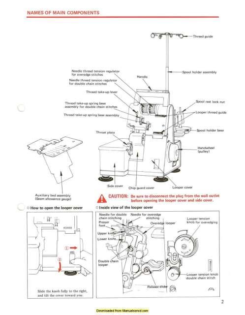 Juki MO-104N Overlock Sewing Machine Instruction Manual