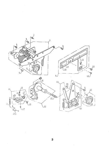 Elna 1010 Sewing Machine Service-Parts Manual