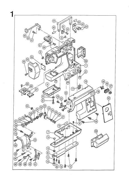Elna 1500-1600 Sewing Machine Service-Parts Manual