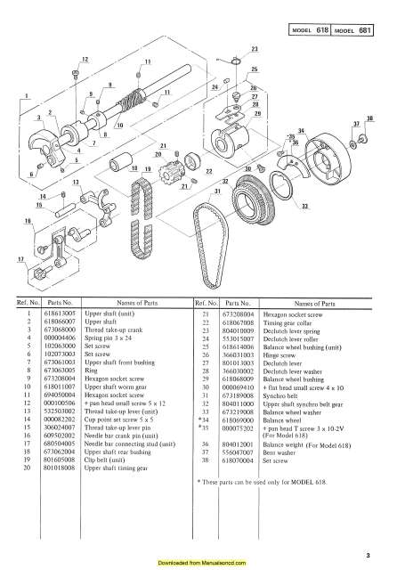 Janome 618-681 Sewing Machine Service-Parts Manual