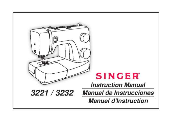 Singer 3221-3232 Sewing Machine Instruction Manual
