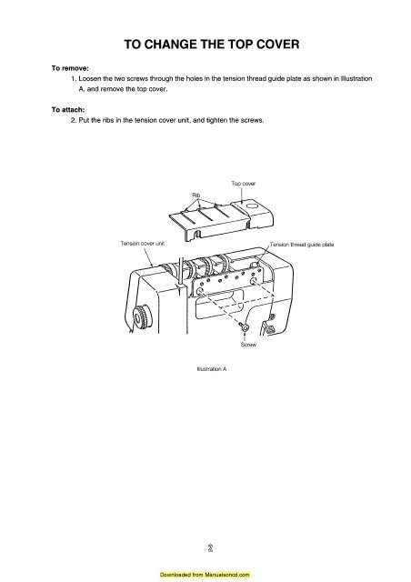 Janome 434DR Mylock Sewing Machine Service Manual