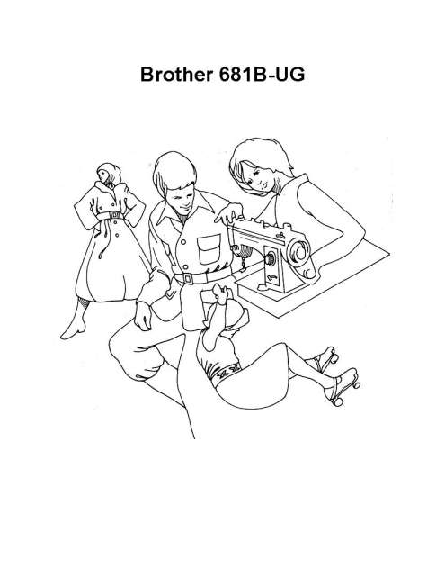 Brother 681B-UG Sewing Machine Instruction Manual
