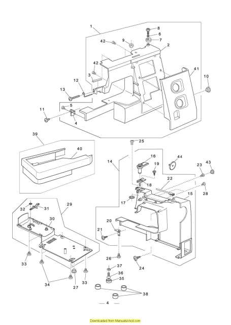 Elna 2600-2800 Sewing Machine Service-Parts Manual