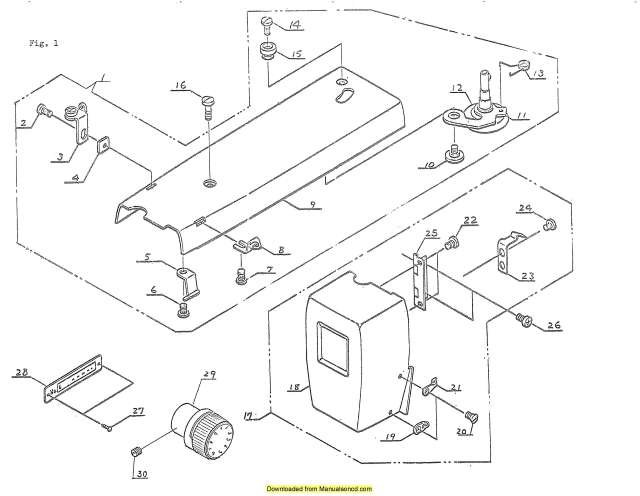 Janome 630 Sewing Machine Service-Parts Manual