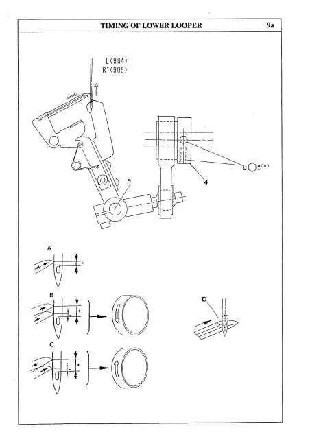 Elna 904DCX-905DCX Sewing Machine Service-Parts Manual